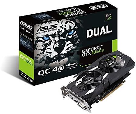 ASUS Dual -GTX1050TI-O4G-V2 - Tarjeta gráfica (GeForce GTX 1050 Ti ...