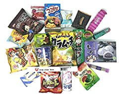 Every assortment of Squaredino by Nom Nom Box comes in a BROWN mailer box as pictured, containing 20 different individually wrapped items and 1 Nom Nom Box chopsticks. Each assortment contains many full-size candies and snacks, and some singl...