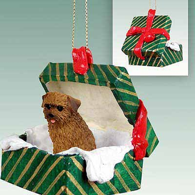 (Conversation Concepts Norfolk Terrier Gift Box Green Ornament)