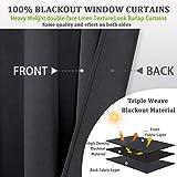 OWENIE 100% Blackout Window Curtains for
