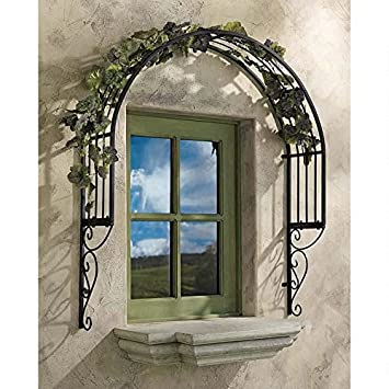Design Toscano Thornbury Ornamental Metal Garden Window Trellis