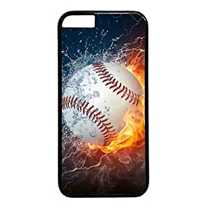 """Baseball In Fire And Water Theme Case for iPhone 6 Plus (5.5"""") PC Material Black in GUO Shop"""