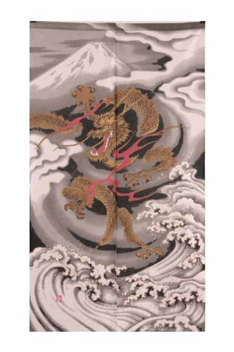 Noren Japanese Doorway Curtain Emperors Doragon 85x150cm