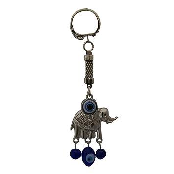 Amazon.com: Divya Mantra Feng Shui mal de ojo Llavero azul ...