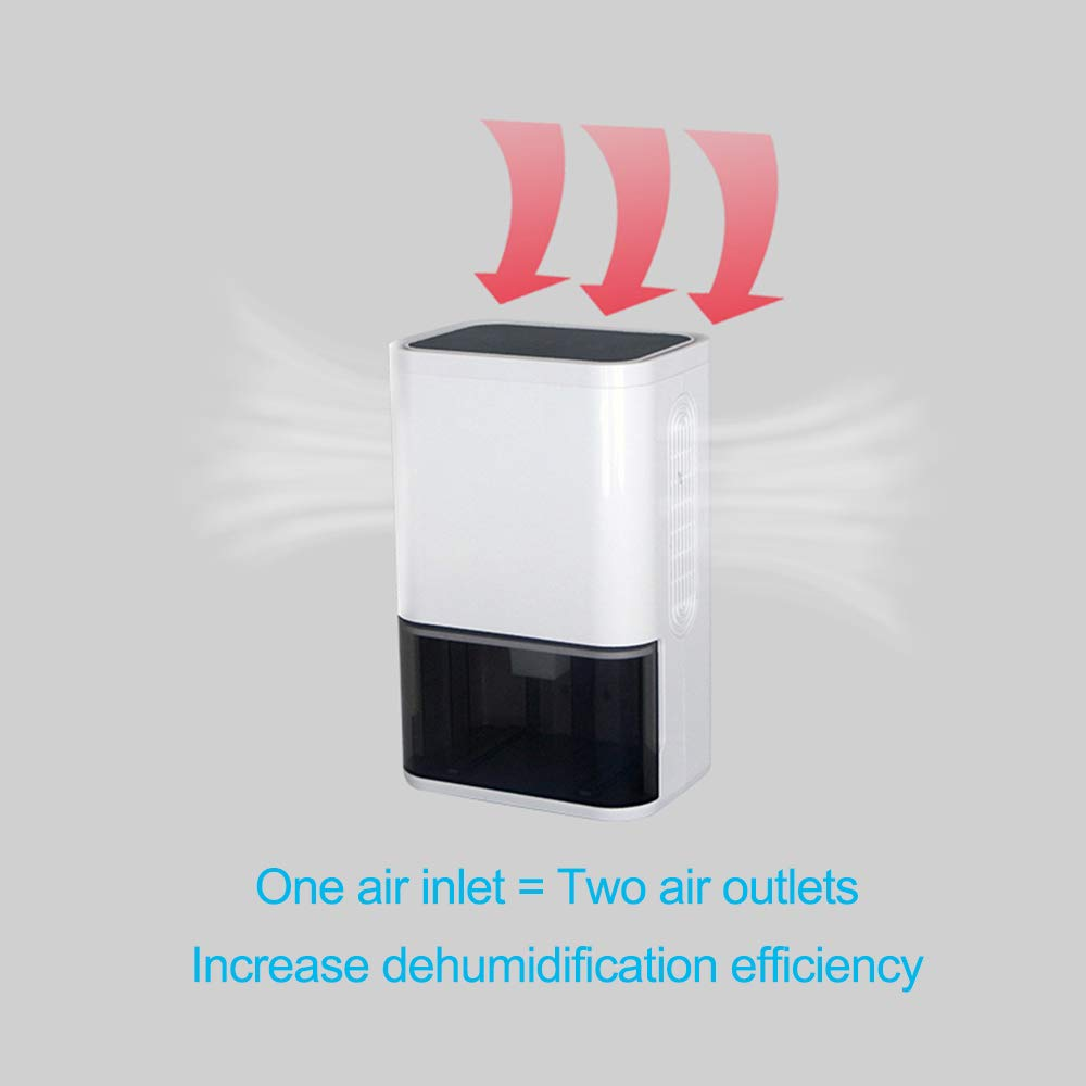 Amazon.com - LUKO Electric and Portable Small Mini dehumidifier, Quiet air semiconductor Technology for 150 sq.ft Rooms, Timing and purify air Function for ...