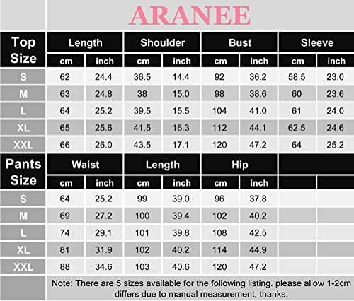 ARANEE Women's Pajamas Set Long Sleeve Sleepwear Classic Plaid Soft Pj Sets Loungewear