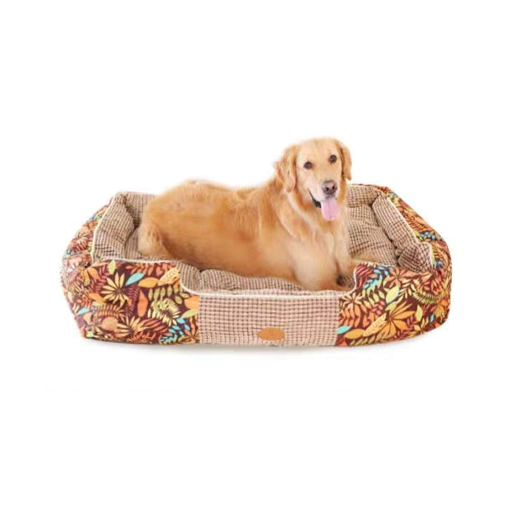 Pet Removable Puppy Dog Bed For Small Medium Dog Cat Sofa Beds Mats Pet Cushion Soft Warm Dog Kennel Washable Winter Dog House (color   color, Size   60  51  24cm)