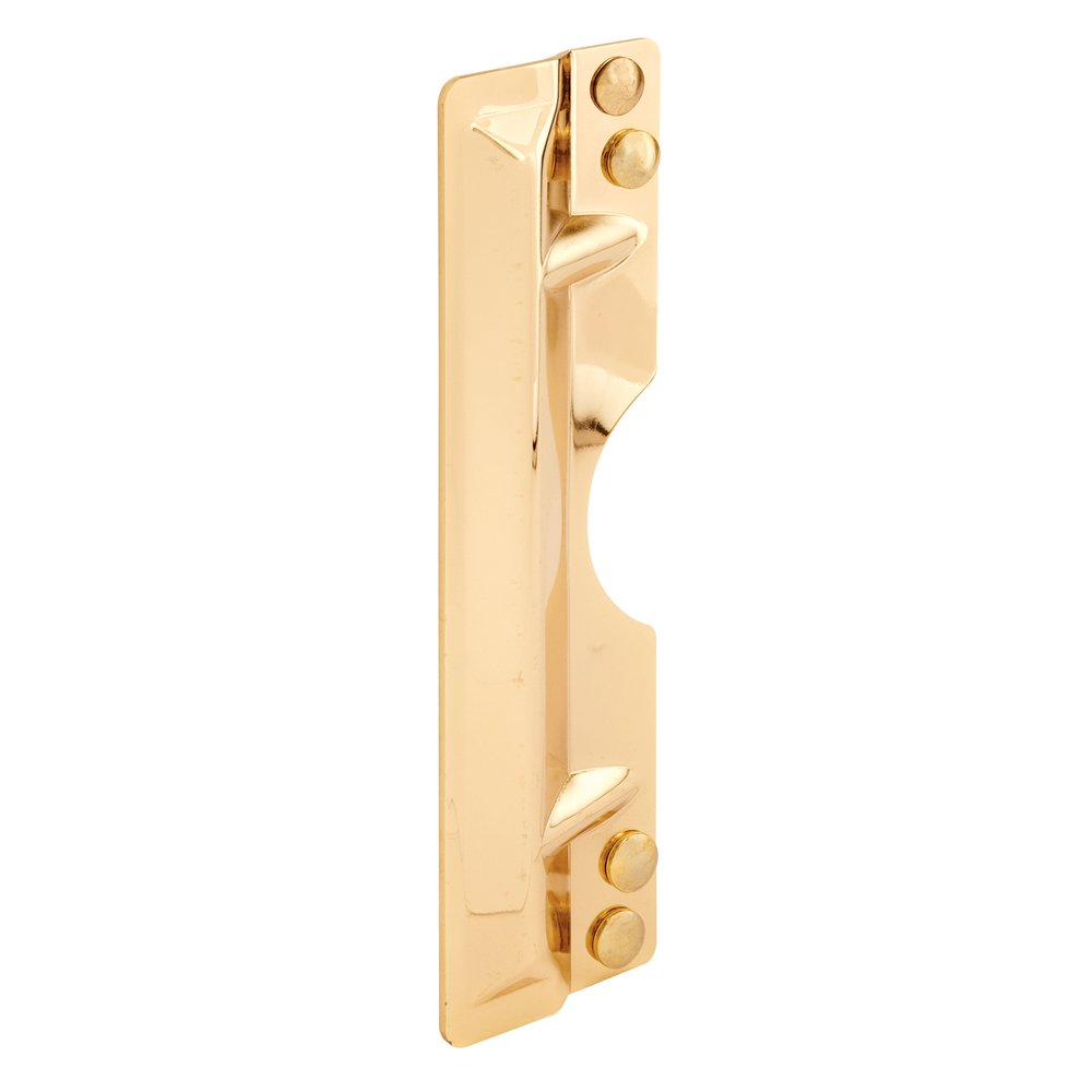 Protect Against Forced Entry Easy to Install on Out-Swinging Doors Defender Security U 10027 Latch Guard Plate Cover Brass Plated Steel 3x11