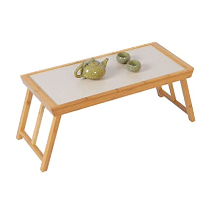 HAIPENG Small Tea Table Low Tables Square Foldable Portable Simple Tables  Bamboo Home Dormitory Japanese Style