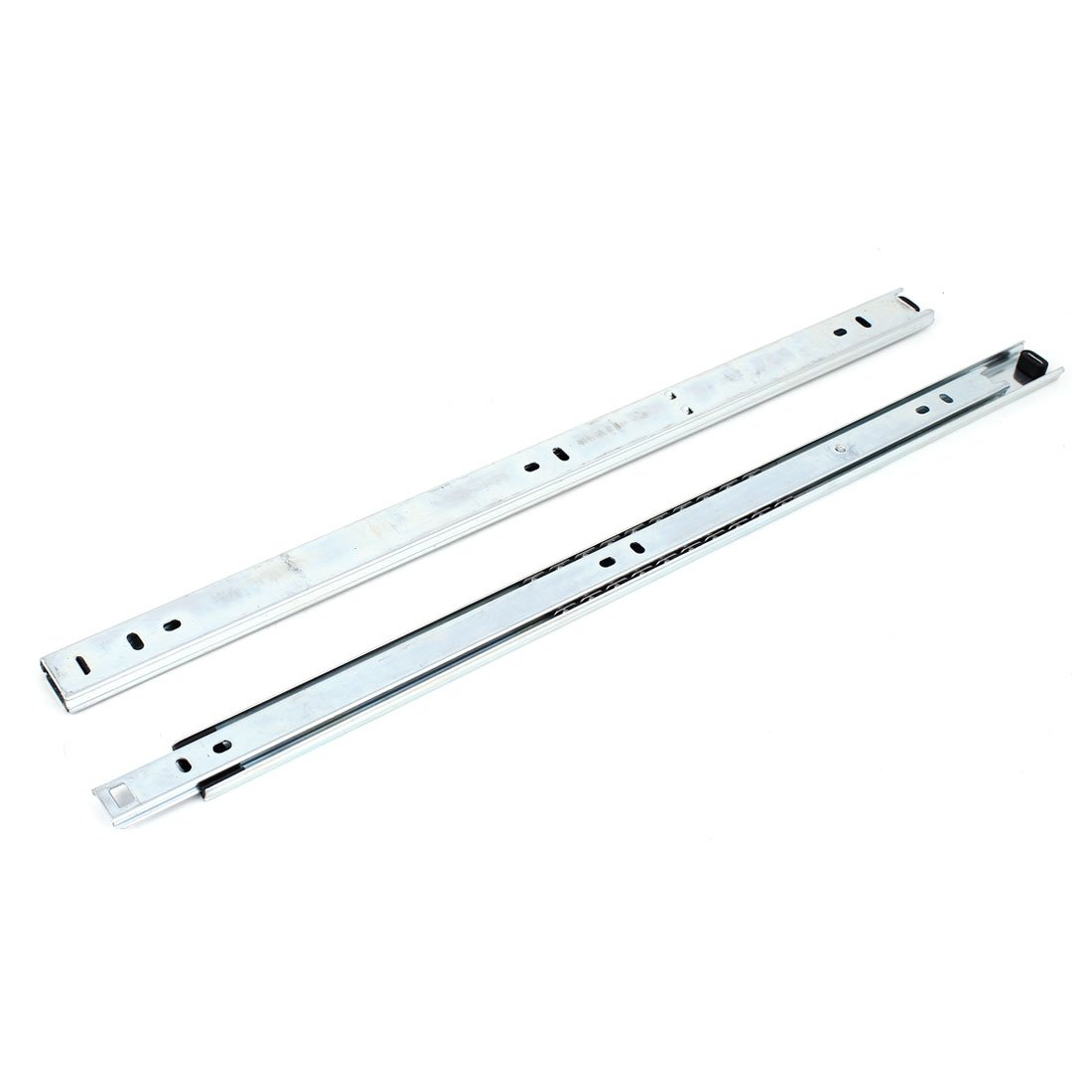 Uxcell a14121600ux0004 17-inch Telescopic Ball Bearing Side Mount Drawer Slides Runners Rails Pair