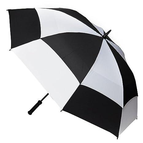 Fulton Stormshield Parasol de Canopy con ventilaci—n en blanco y negro