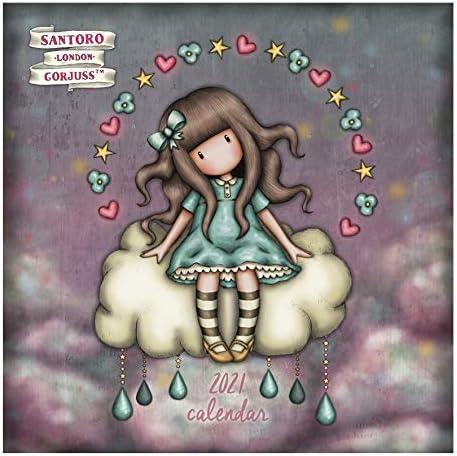 Santoro Gorjuss 2021 Calendrier mural Douches d'avril pour elle et