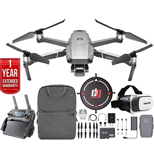 Aircraft Noise Radio (DJI Mavic 2 Pro Drone Mobile Go Kit with Hasselblad Camera 1-inch CMOS Sensor and Landing Pad, VR FPV Goggles, Backpack, High Speed Memory Card & One Year Warranty Extension Bundle)