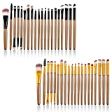 40 Pcs Professional Makeup Brushes Set has all the brushes that you need to make your make up look professional. made of a high-quality nylon, stainless steel and plastic, that allows the brushes to stay nice and full, soft and dense for appl...