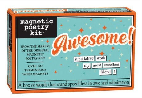 (Magnetic Poetry Awesome! Kit - Words for Refrigerator - Write Poems and Letters on The Fridge - Made in The USA)