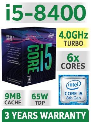 PC Desktop completo Professional de gráfica Studio Intel i5 Six Core i5 - 8400 8th Gen Up Turbo 4,0 ghz tarjeta gráfica integrada Intel Graphics 630 4 K UHD ...