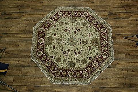 Octagon 8x8 Agra Jaipur Oriental Area Rug (Octagon Shape Rugs)