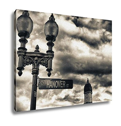 Ashley Canvas, Street Sign And Buildings Boston Ma, Wall Art Home Decor, Ready to Hang, 16x20, - Street Boston Newbury Ma