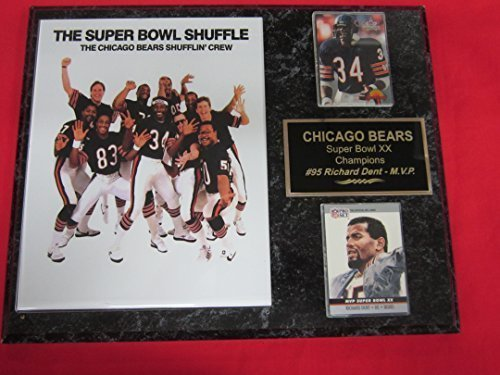 Jim Mcmahon Chicago Bears - 1985 Chicago Bears Super Bowl XX Champions 2 Card Collector Plaque w/8x10 Photo