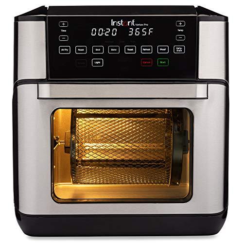 Instant Vortex Pro 9-in-1 Air Fryer Oven, Air Fryer, Roaster, Broiler, Bake, Toaster, Reheat, Dehydrator, 10 Quart…