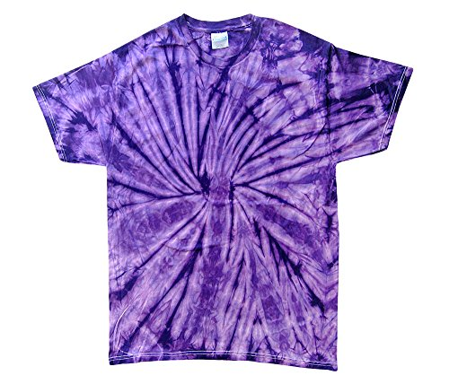 - Gildan Tie Dye T-Shirts Multiple Plain Colors Kids & Adult Size (X-Large, Purple)