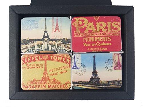 Refrigerator magnets set of 24 Paris souvenirs fridge magnet tiny mini small office souvenir gifts kitchen souvenir city magnetic office (Pairs with box) (Paris Memo Board)