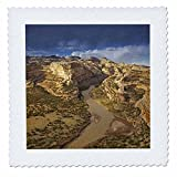 3dRose qs_88881_1 Yampa River, Dinosaur National Monument, Colorado - US06 CHA0040 - Chuck Haney - Quilt Square, 10 by 10-Inch