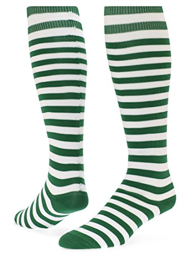 Red Lion Mini Hoop - Red Lion Mini Hoop Stripe Athletic High Knee Sport Socks ( Kelly / White - Small )