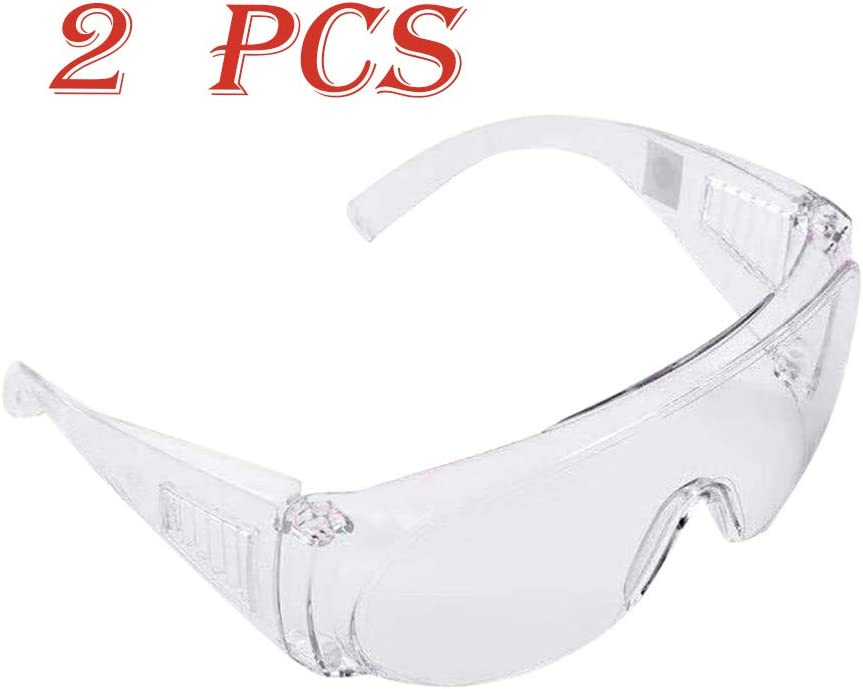 Multifunction Anti-Spitting Saliva Dust-proof Windproof Waterproof Sand-Proof Splash-Proof Viruses Eye Protection Glasses 2 PC MORCHAN Protection Goggles