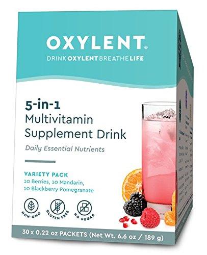 Vitalah No Sugar Oxylent Multivitamin Drink, Variety Pack, 6.6 Ounce, 30 Count