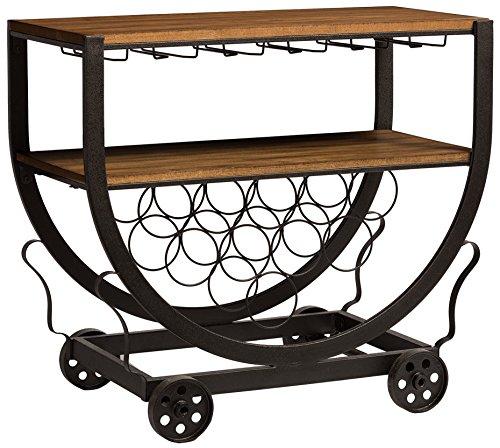 Baxton Studio Brown Industrial Kitchen Cart At Lowes Com: Amazon.com: Baxton Studio Triesta Antiqued Vintage