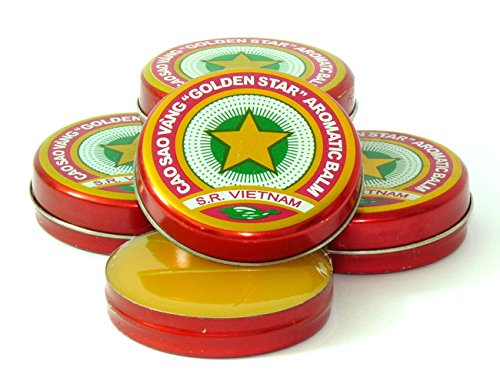 Aromatic Ointment (20 Boxes *3g Golden Star Aromatic Balm Vietnamese Cao Sao Vang Ointment)