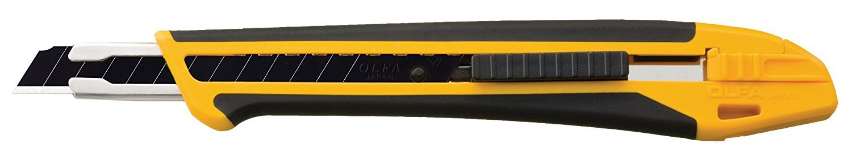 OLFA 1075449 XA-1 9mm Fiberglass Rubber Grip Utility Knife (3) by OLFA