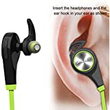 Bluetooth Headphones, Wireless Earbuds Bluetooth Headset with mic Sports running Earphones for iPhone Sony Samsung motorola LG (Green)