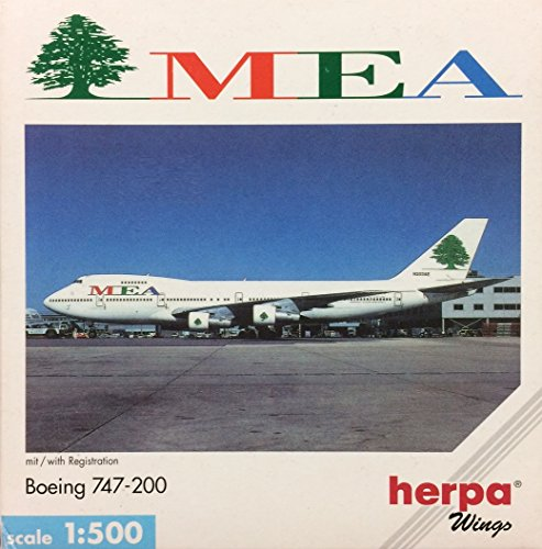 herpa wings 【ヘルパウィングス】Middle East Airlines (MEA)(中東航空)B747-200 1:500スケール(502627)