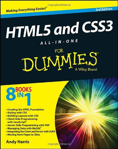 HTML5 and CSS3 All-in-One For Dummies, 3rd Edition Front Cover