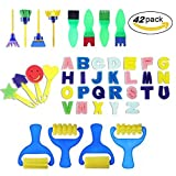 42 Pieces Sponge Painting Brushes Kids Painting