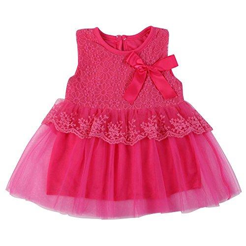 1071f17df3e7 BOBORA Baby Girls Sweet Princess Tutu Dress Lace Bow Flower Vest ...
