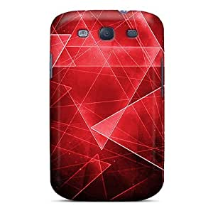 New AnnetteL Super Strong Red Tri Tpu Case Cover For Galaxy S3