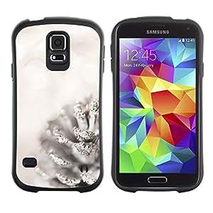 LASTONE PHONE CASE / Suave Silicona Caso Carcasa de Caucho Funda para Samsung Galaxy S5 SM-G900 / White Acorn Glitter Snow Christmas