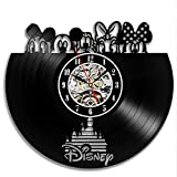 Disney Popular Characters Vinyl Wall Clock Gift Idea