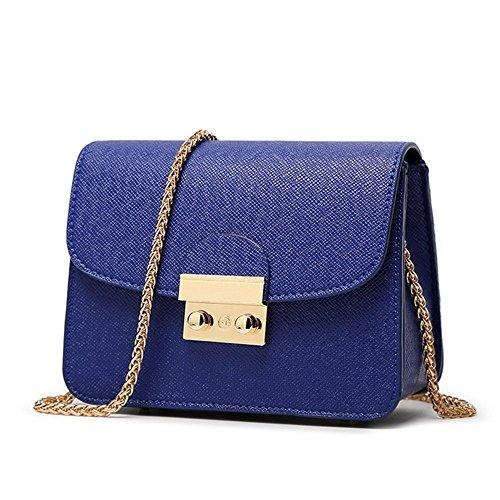 Eysee - Bolso cruzados para mujer rosa morado 18cm*14cm*8.5cm azul zafiro