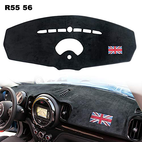 PGONE Custom Fit Dashboard Black Center Console Cover Dash Mat Protector Sunshield Cover Pad Carpet for R55 R56 BMW Mini Cooper R F Series (Red, R55 R56)