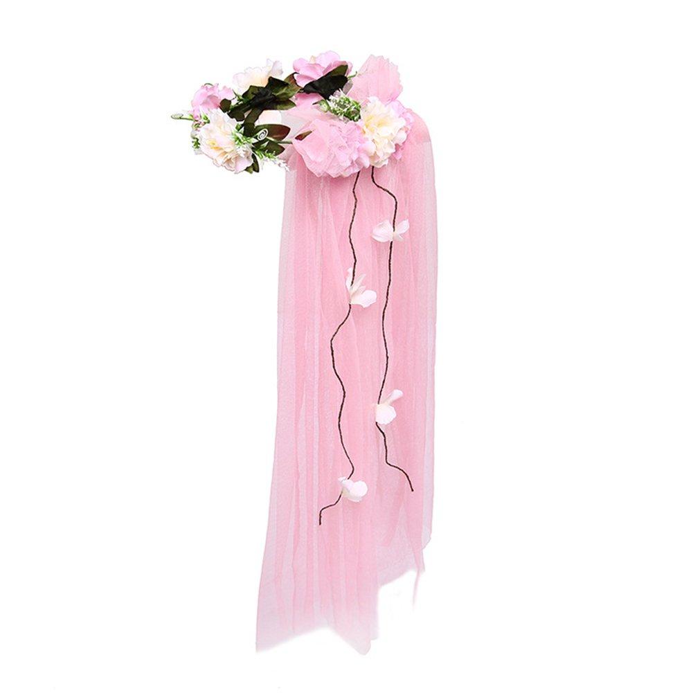 Amazon.com : ShiningLove Bridal Wedding Flower Wreath Headband Hair ...