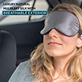 Anti Aging Sleep Mask with Copper Ion Technology by Sleep Fountain | Rejuvenates Skin, Reduces Eye Puffiness | Super Soft Copper Eye Mask with Unique Blindfold Design in Mulberry Silk | Luxury Case