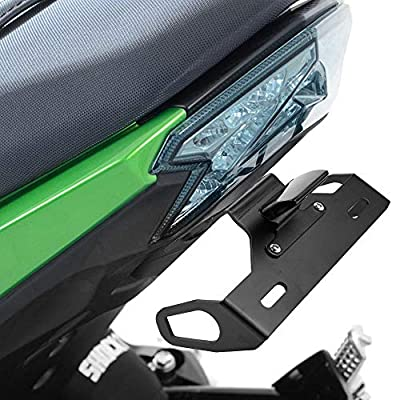 kemimoto Compatible with Kawasaki Z125 Fender Eliminator Z125 Pro License Plate Holder Tail Tidy 2015 2016 2020 with Led License Plate Light: Automotive