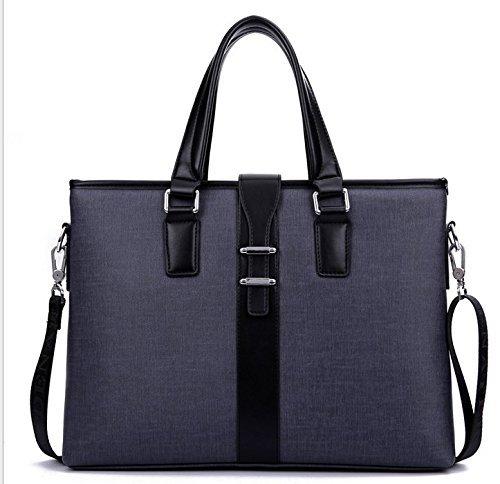 Faux Leather Men's Messenger Shoulder Bag Briefcase for Acer Aspire Switch 11 12 / Apple MacBook Pro 11.6 13.3-Inch / HP ASUS Lenovo Dell Toshiba 13 inch Laptops (Black)