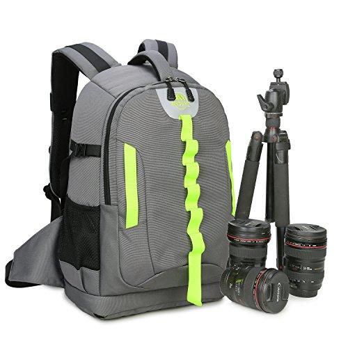 Abonnyc DRLBP-CG Waterproof Anti-shock Backpack for DSLR and SLR Cameras Case,Grey by Abonnyc