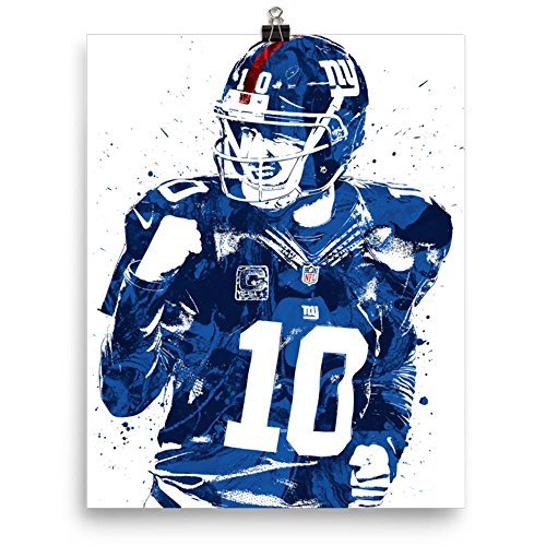 Eli Manning New York Giants Poster Mvp Draft