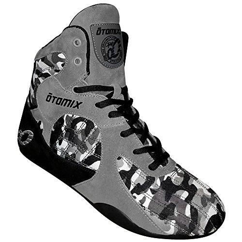 Otomix Gray / Camo Stingray Escape Bodybuilding Sollevamento Pesi Mma E Scarpette Da Boxe